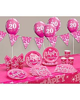 Sparkle Happy Birthday Age 20 Party Kit