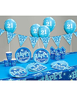 Sparkle Happy Birthday Age 21 Party Kit