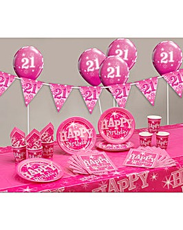 Sparkle Happy Birthday Age 21 Party Kit