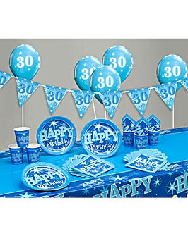 Sparkle Happy Birthday Age 30 Party Kit