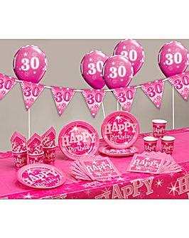 Sparkle Happy Birthday Age 30 Party Kit