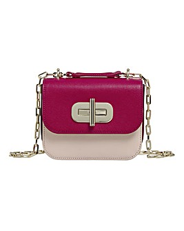 Tommy Hilfiger Turnlock Leather Ruby Bag