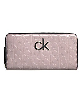 Calvin Klein Re Lock Patent Pink Purse