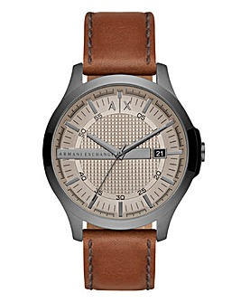 AX Gents Hampton Tan Leather Strap Watch