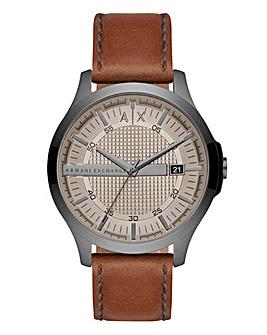 AX Gents Hampton Tan Leather Strap Watch