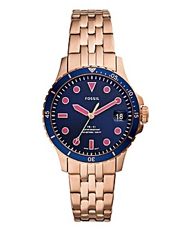 Fossil Ladies Rose Gold Bracelet Watch