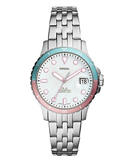 Fossil Ladies Silver Tone Bracelet Watch