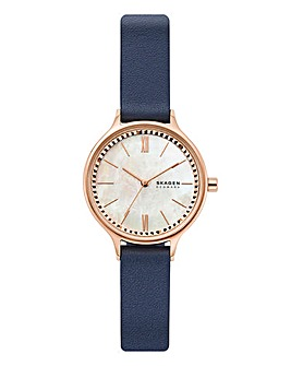 Skagen Ladies Anita Leather Strap Watch