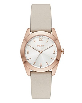 DKNY Ladies Nolita Leather Strap Watch