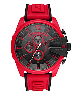 Diesel Mens Mega Chief Red Watch