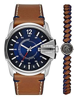 Diesel Mens Chief Watch & Bracelet Set