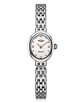 Rotary Ladies Diamond Set Silver Watch