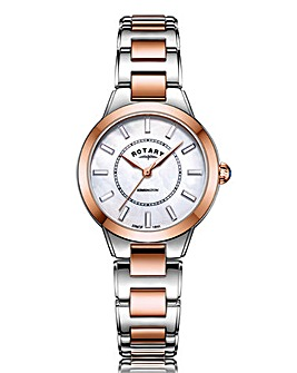 Rotary Ladies Rose Kensington Timepiece