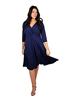 Scarlett & Jo Blueberry Knot Front Dress