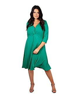 Scarlett & Jo Green Knot Front Dress