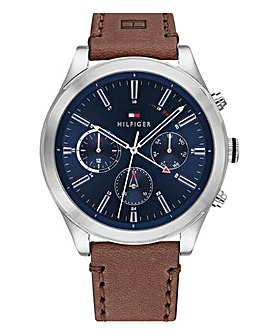 Tommy Hilfiger Ashton Mens Brown Leather Watch
