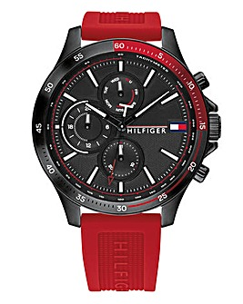 Tommy Hilfiger Sport Red Strap Watch