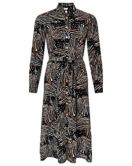 Monsoon Zia Zebra Print Shirt Dress