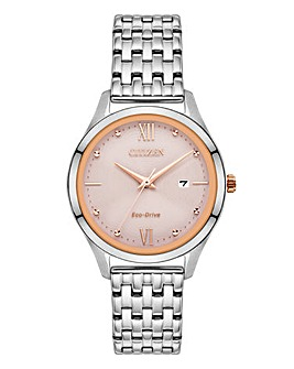 Citizen Ladies Eco Drive Silver Watch