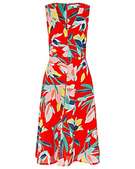 Monsoon Jessie Fit And Flare Midi Dress