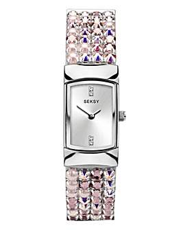 Sesky Ladies Pink Diamond Watch