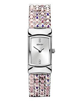 Sesky Ladies Pink Diamond Watch