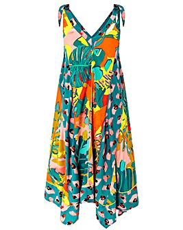 Monsoon Veradero Print Hanky Hem Dress