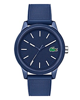 Lacoste Mens 12.12 Navy Silicone