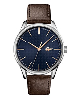 Lacoste Mens Vienna Leather Strap Watch