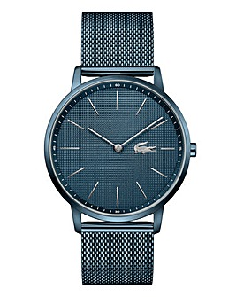Lacoste Mens Blue IP Mesh Bracelet Watch