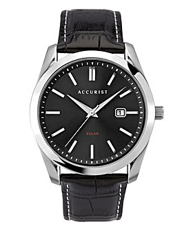 Accurist Solar Powered Leather Watch