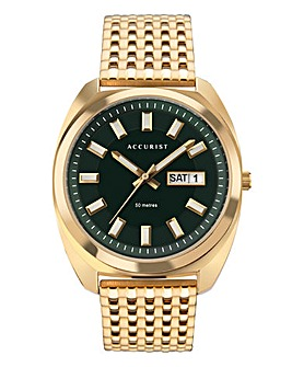 Accurist Mens Retro Gold Plated Watch