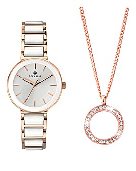 Accurist Womens Necklace & Watch Set