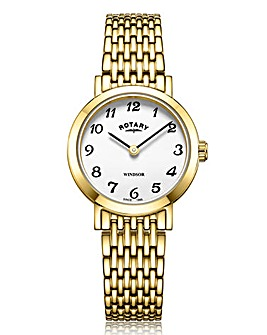Rotary Ladies Gold Windsor Bracelet Watch