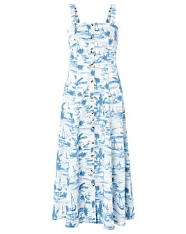 Monsoon Bobby Boat Poplin Sun Dress