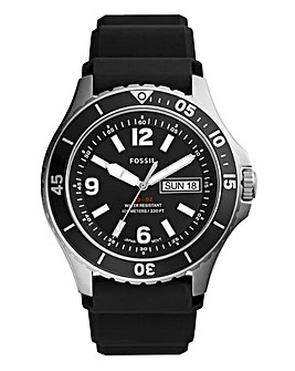 Fossil Mens FB - 02 Black Silicone Watch