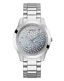 Guess Diamond Dial Silver Watch