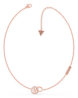 Guess Equilibre Rose Gold Necklace