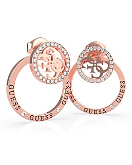 Guess Equlibre Rose Gold Earring