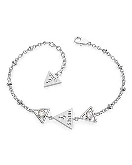 Guess Queen of Hearts Silver Bracelet