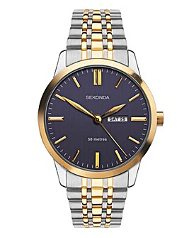 Sekonda Two Tone Blue Dial Watch