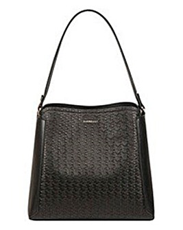 Fiorelli Halle Black Logo Hobo Bag
