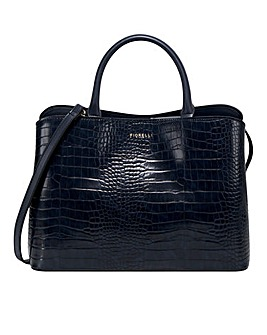 Fiorelli Bethnal Navy Croc Tote Bag