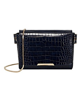 Fiorelli Mariah Navy Croc Crossbody Bag