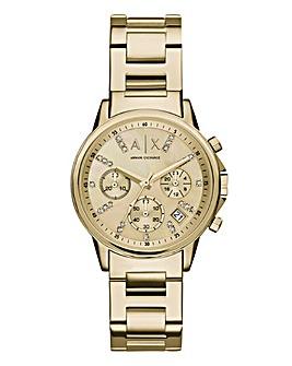 Armani Exchange Ladies Gold Watch