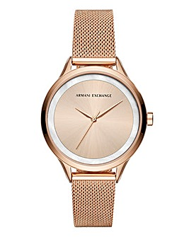Armani Exchange Ladies Mesh Watch