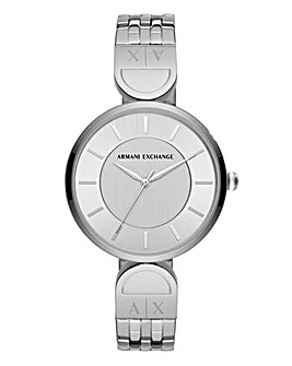 Armani Exchange Ladies Silver Watch
