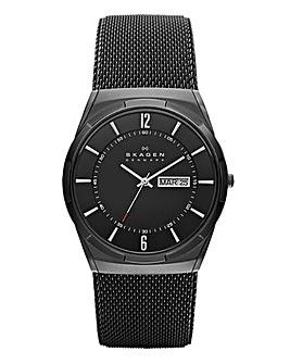 Skagen Melbye Titanium Steel-Mesh Watch