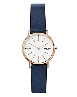 Skagen Signature Blue Leather watch