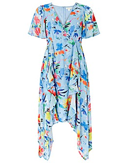 Monsoon Wendy Print Hanky Hem Dress